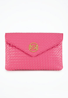 bebe Signature Woven Clutch - ONLINE EXCLUSIVE