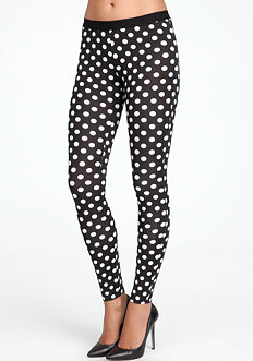 bebe Piper Dot Print Leggings