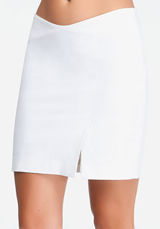 bebe Crossover Mini Skirt