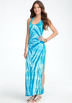 Long Rib Tie Dye Tank Dress - ONLINE EXCLUSIVE at bebe