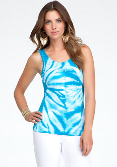 Logo Tie Dye Tank - ONLINE EXCLUSIVE at bebe