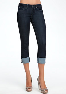 bebe Cuffed Icon Crop Jeans