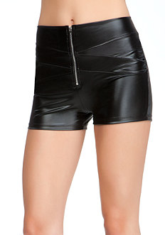 bebe Zipper Wet Shorts - ONLINE EXCLUSIVE