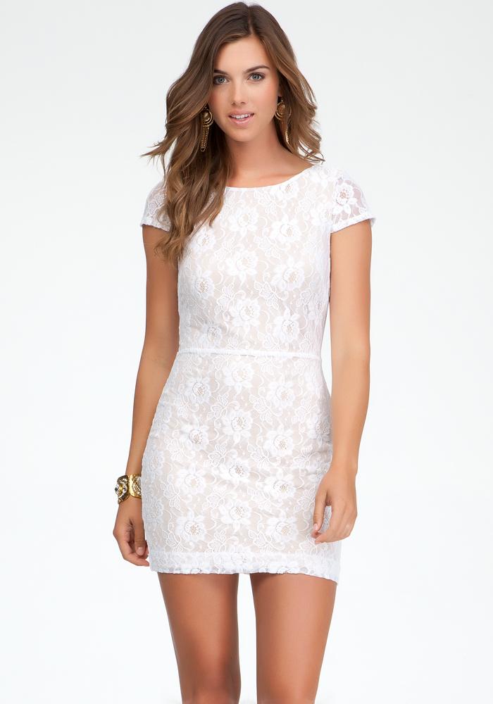 Crisscross Back Lace Dress