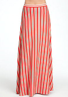 bebe Knit Stripe Maxi Skirt