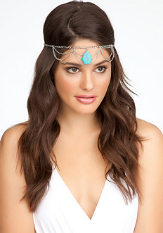 Stone & Chain Headpiece - ONLINE EXCLUSIVE at bebe