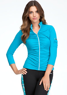 bebe Ruched Funnel Jacket - BEBE SPORT ONLINE EXCLUSIVE