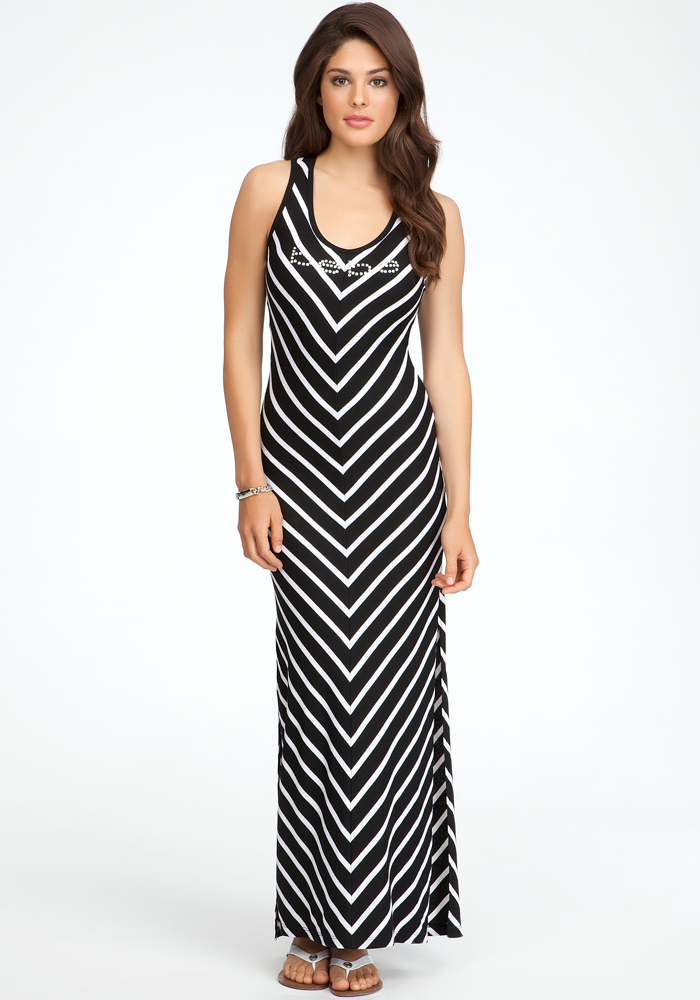 Logo Chevron Tank Dress