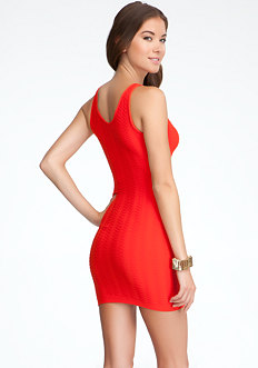 bebe Textured Tubular Tank Dress