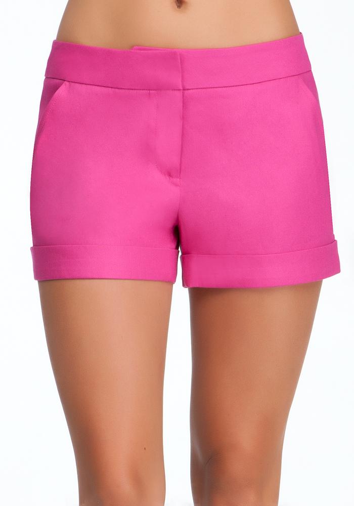 Cuffed Linen Trouser Shorts