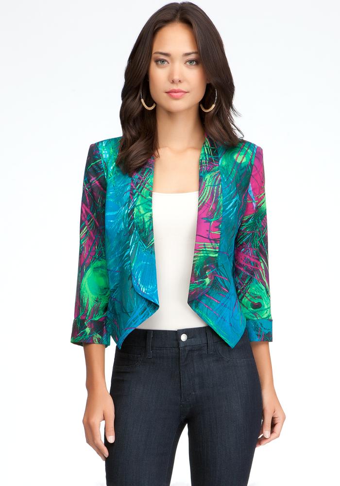 Shawl Collar Crop Jacket