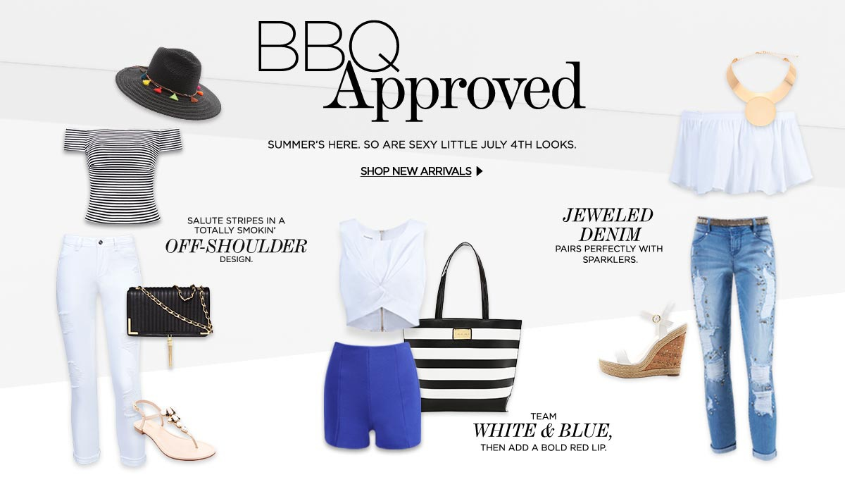 BBQ Approved. Summer's here. So are sexy little July 4th looks.