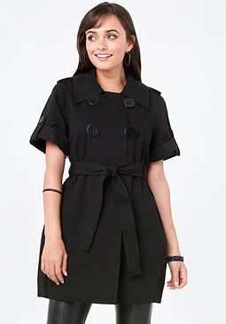 bebe Tie Belt Trench Coat