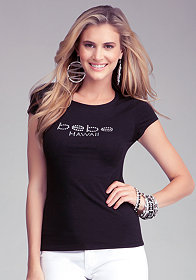 Logo Hawaii Tee at bebe