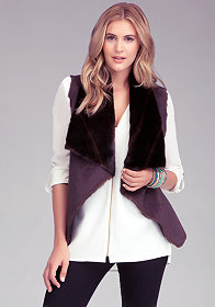 Reversible Faux Fur Vest at bebe