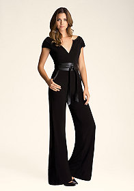 Wrap Belt Knit Jumpsuit at bebe