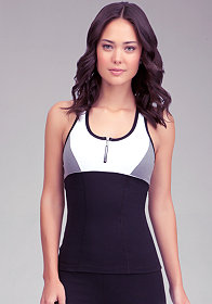 Zipper Heather Racerback Top at bebe