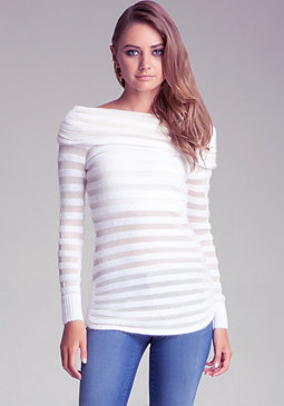 Shadow Stripe Sweater at bebe