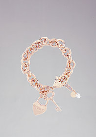 Heart Logo Charm Bracelet at bebe