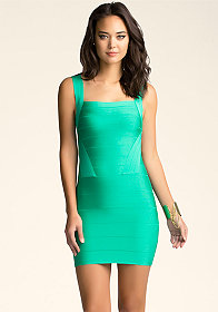 Strap Bandage Dress at bebe