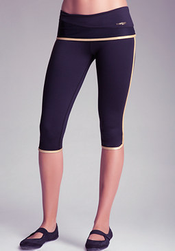 Sport Foil Trim Capri at bebe