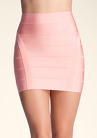 bebe Princess Bandage Mini Skirt
