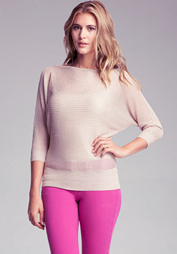 bebe Drop Needle Sweater