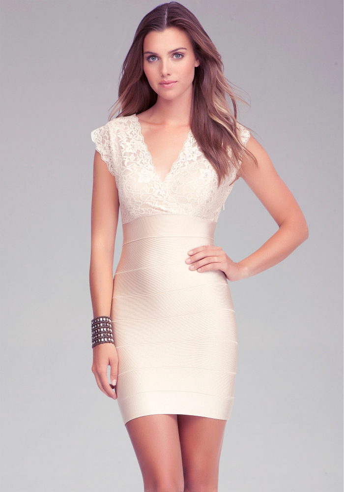 Cutout Lace Bandage Dress
