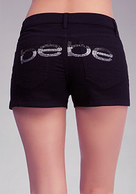 bebe Side Slit Shorts