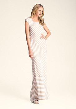 bebe Mixed Mini Stripe Maxi