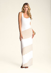 bebe Asymmetric Maxi Dress