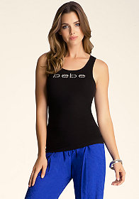 Logo Basic Rib Tank at bebe