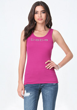 Ribbed Tank at bebe