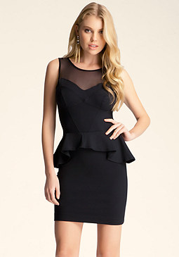 bebe Stella Peplum Dress