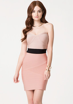 Bandage Colorblock Dress at bebe
