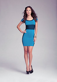 bebe Define Accent Bodycon Dress - WEB EXCLUSIVE