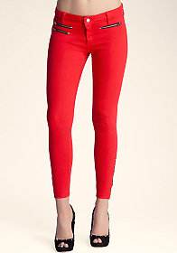 Multi Zip Icon Skinny Jeans at bebe