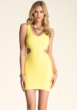 Cutout Bodycon Tank Dress at bebe