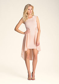 Mesh Hi-Lo Ruffle Dress at bebe