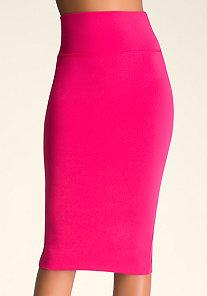 Solid Midi Skirt at bebe