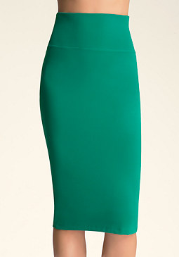 Solid Midi Skirt at bebe