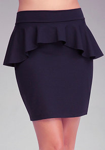 Peplum Pencil Knit Skirt at bebe