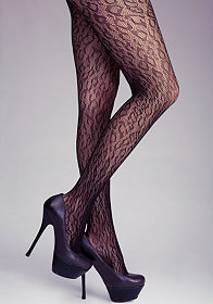 bebe Cheetah Fishnet Tights