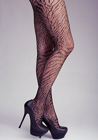 bebe Zebra Fishnet Tights