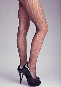 bebe Back Seam Fishnet Tights