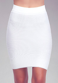 Ribbed Bodycon Mini Skirt at bebe