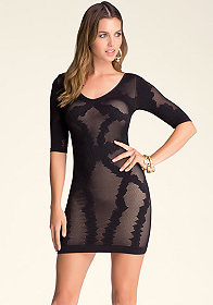 bebe Bodycon Lace Dress