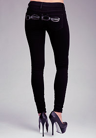 Logo Super Stretch Skinny Jeans at bebe