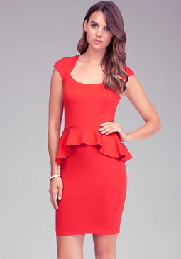 bebe Mariah Peplum Dress