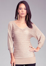 bebe Batwing Sequin Sweater